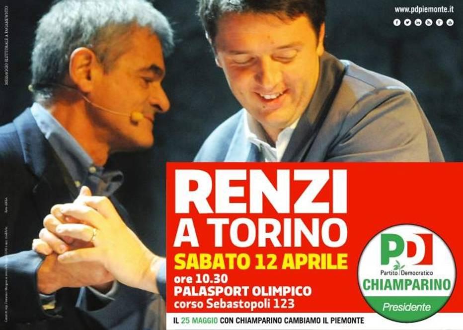 Renzi a Torino per Chiamparino